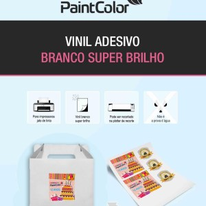 Vinil Adesivo para Impressão Branco 190g A4 - 100 Folhas