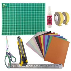 Kit de Materiais para Scrapbook com base A2