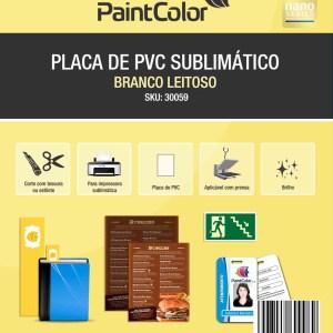 Placa de PVC Branco Leitoso Sublimático A4 10 Unidades