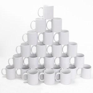 Caneca de Porcelana para Sublimação Premium 325ml - 24 Unidades