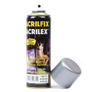 Verniz Spray Acrilfix Resina Brilhante 300ml