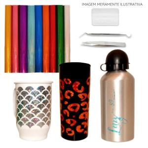 Plotter de Recorte Silhouette Cameo 4 Plus + Kit Vinil Holográfico + Bônus de Ferramentas