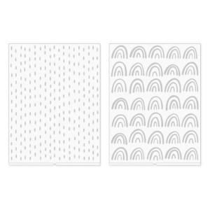 Placa de Emboss Revolution We R por Amy Tangerine  – Kit com 2 Peças