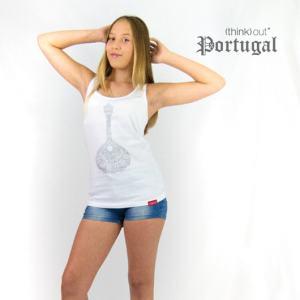 Top de Senhora Branco Fado - Guitarra Portuguesa
