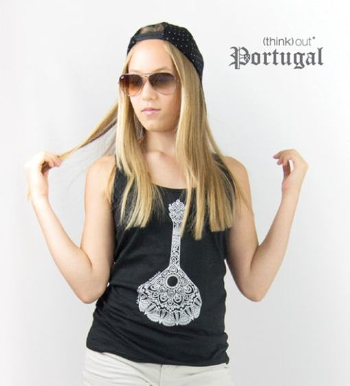 Top de Senhora Preto Fado - Guitarra Portuguesa
