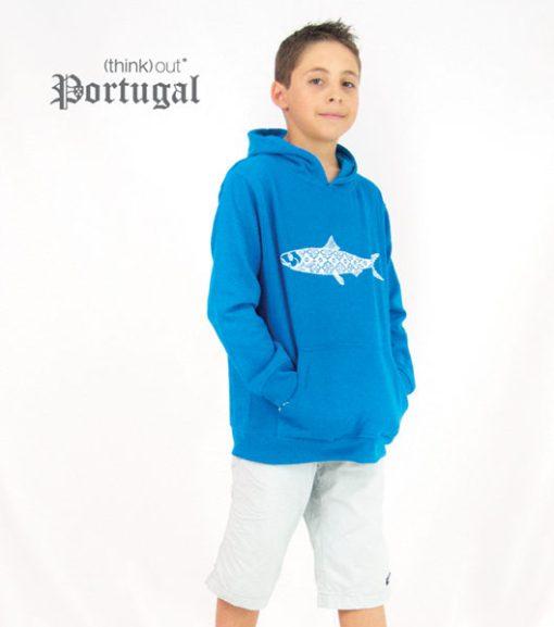Hoodie de Criança Sardinha Aqua