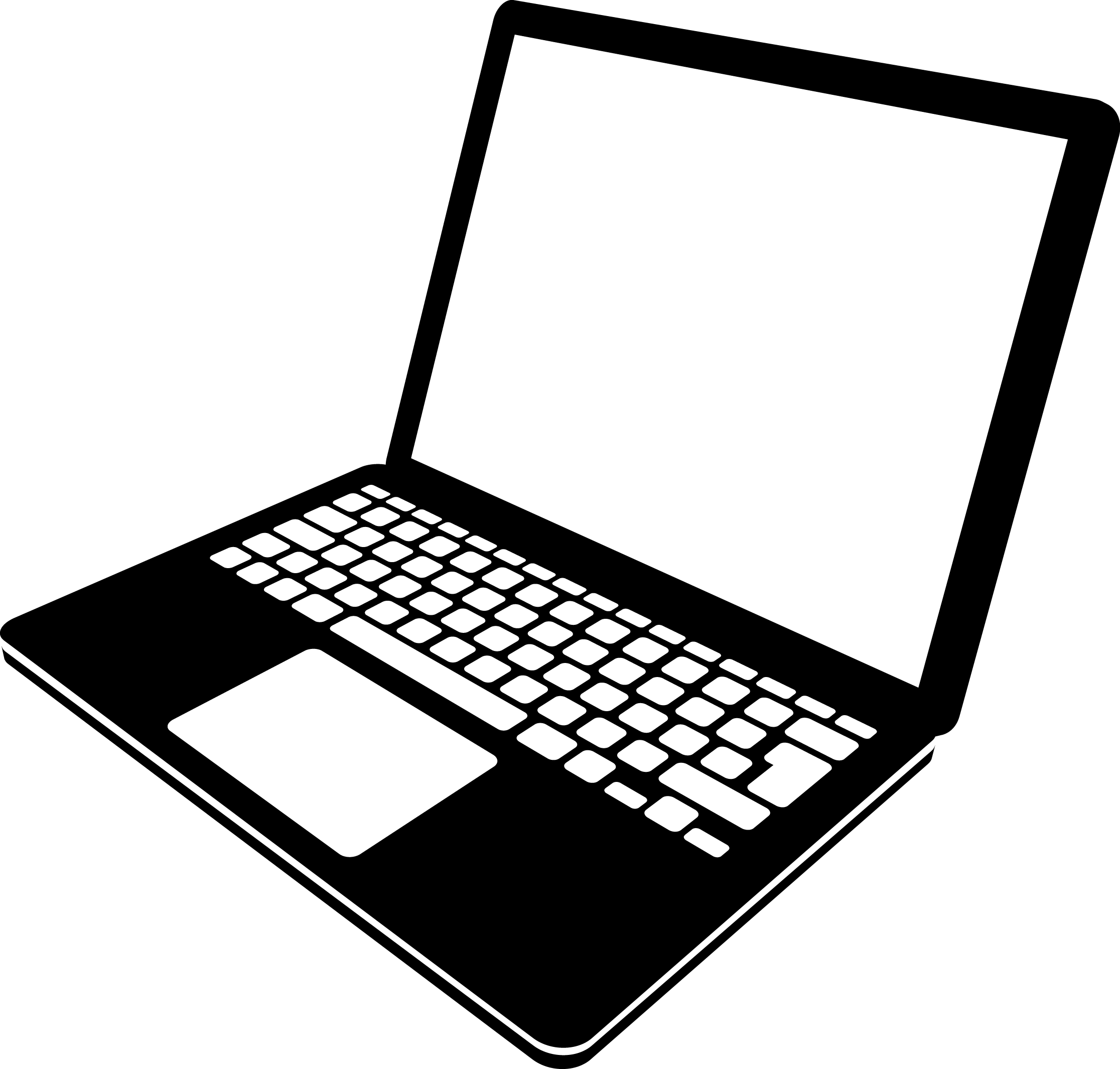 Laptop Clip Art Black And White Pictures To Pin On