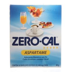 adoçante zero cal aspartame