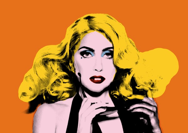 Lady Gaga Art Pop Andy Warhol