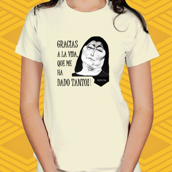 Camiseta Mercedes Sosa Baby Look