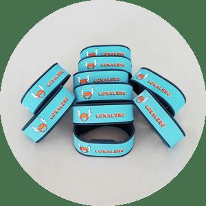 Bracelets NFC pour associations - lot de 10 - aux couleurs de LOKALERO