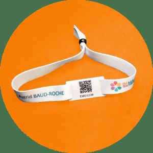 Bracelet tissu QR Code personnalisé - Demain mon territoire