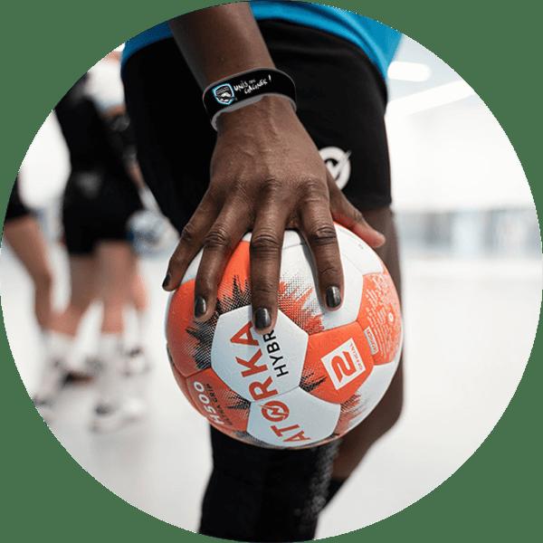 Bracelets NFC don association - personnalisés à vos couleurs - Marseille Nord Handball
