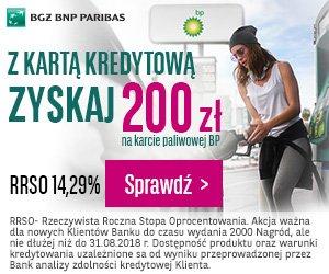 BGŻ BNP Paribas Karta kredytowa i 200 zł do BP