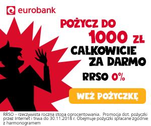 Eurobank Pożyczka do 1000 zł z RRSO 0%