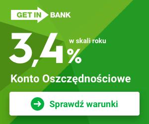 Getin Bank Konto oszczędnościowe na NOWE ŚRODKI