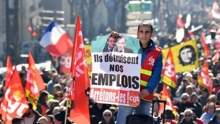 Yellow Vests and Red Unions Strike Together