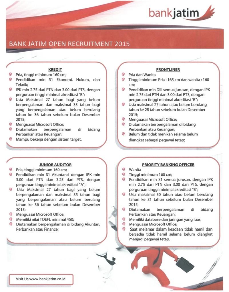 Lowongan Kerja Bank Jatim : lowongan, kerja, jatim, Lowongan, Kerja, Jatim, Loker, Jonegoro