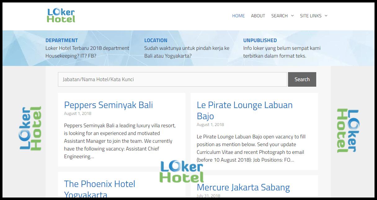 Loker Hotel Lowongan Kerja Hotel Terbaru 2021