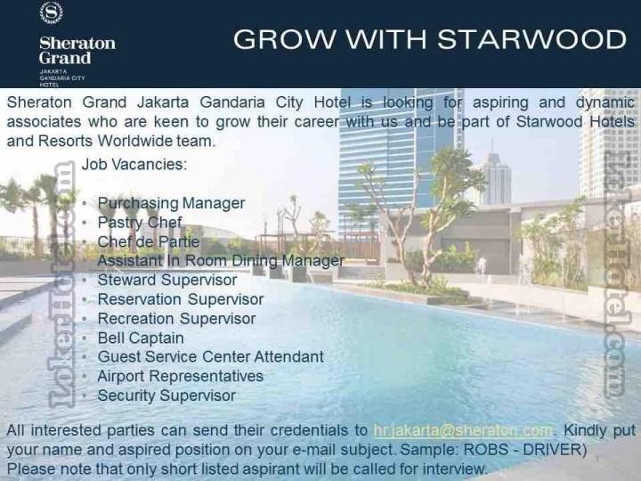 Sheraton Hotel Job Vacancy
