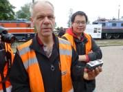 Stambanans Vänners Kjell Karlsson, och sonen Olov, har lagt ned ett stort jobb med det fullskaliga Märklinloket.