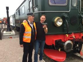 Netrails Jochum Ressel tillsammans med Märklins marknadschef Janko Franke.