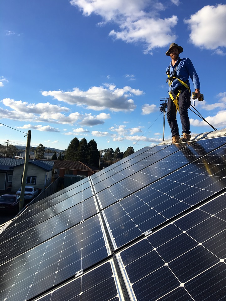 Nick Lokic from Lokic Energy Solutions completing a solar audit.
