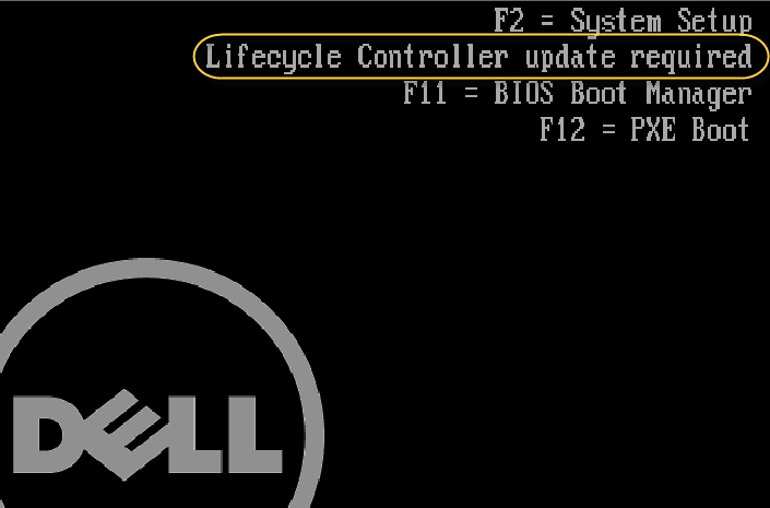 Lifecycle Controller update required on Dell server