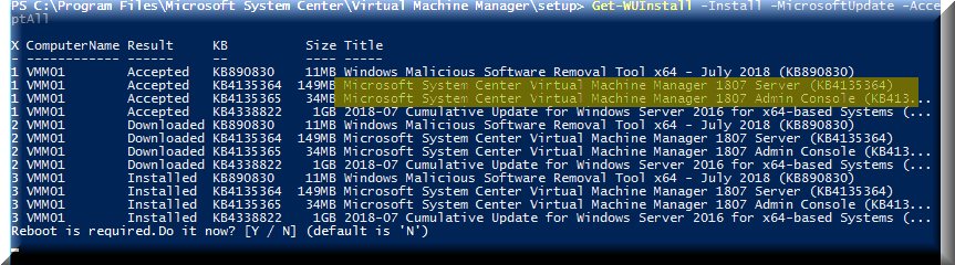 Upgrade to VMM 1801, a knights tale - BlackCat Reasearch Facility