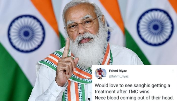 TMC समर्थकों, इस्लामवादियों ने बंगाल में TMC की जीत के रुझानों के बाद 'sanghis' की धमकी दी