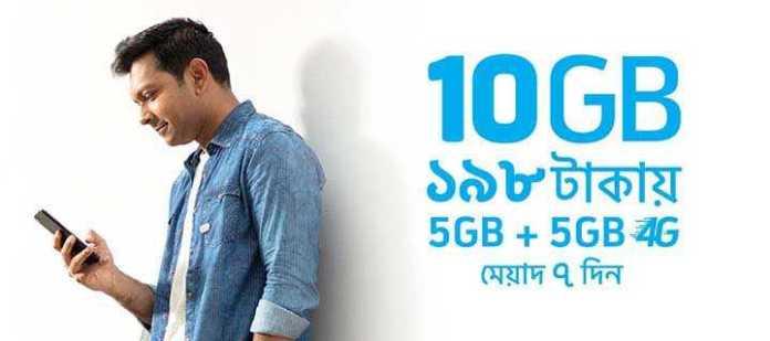 GP Internet offer - 10GB 198 Taka