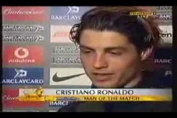 Primeira flash interview do Cristiano Ronaldo em inglês