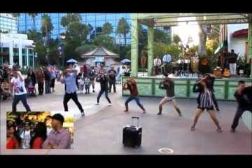 Namorada surpreendida com pedido de casamento em flash mob