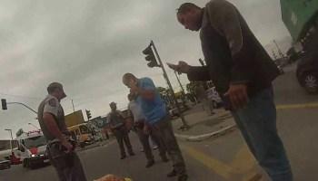 Tentativa de roubo de uma mota com arma