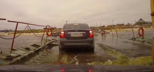 Pontes flutuantes na Rússia