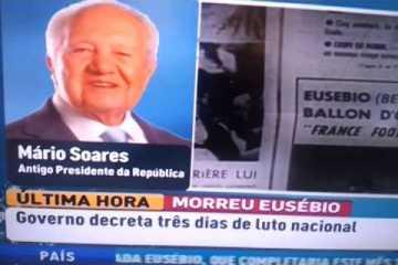 Depoimento de Mário Soares sobre a morte de Eusébio.