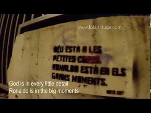 Deus perdoa, Ronaldo não, nas paredes de Barcelona