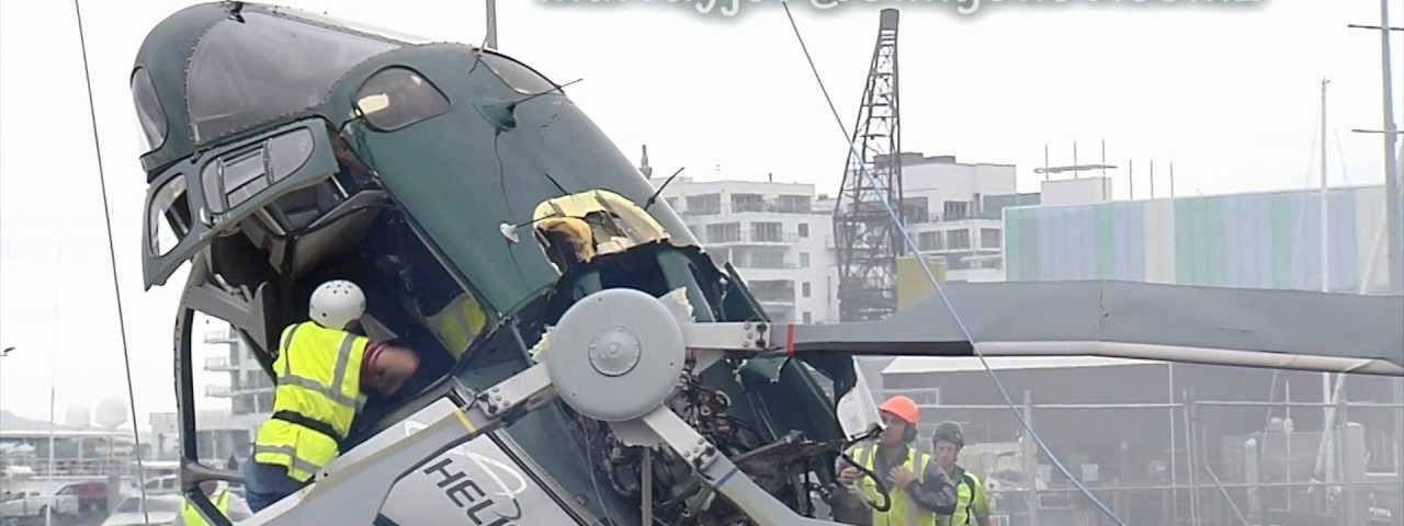 Acidente de helicóptero quase acaba em tragédia.
