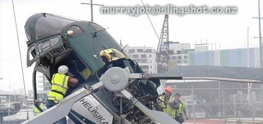 Helicóptero tenta fazer manobra mas corre muito mal!