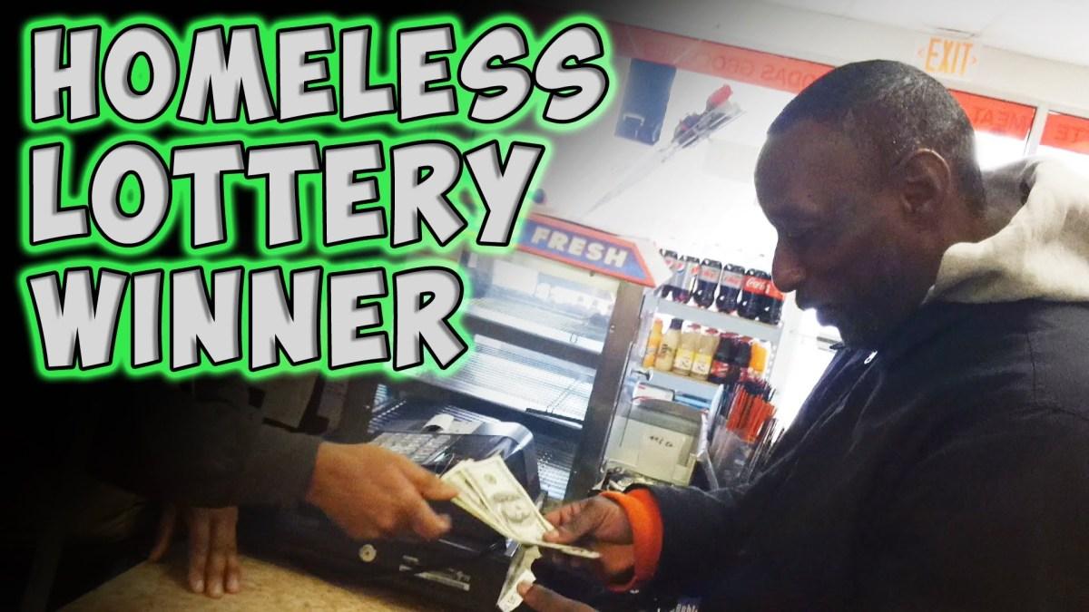 Sem abrigo ganha a lotaria
