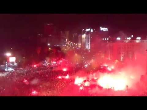 Benfica campeão festa no Marquês