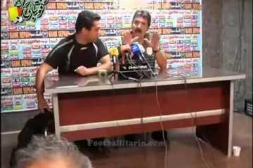 Toni passa-se da cabeça em conferência de imprensa no Irão