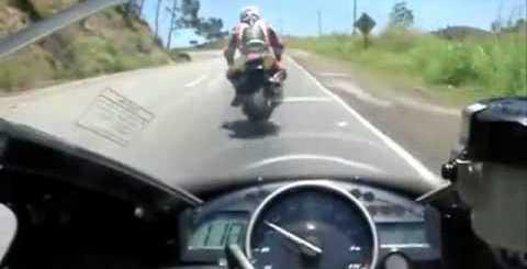 Acidentes de moto aos olhos do condutor