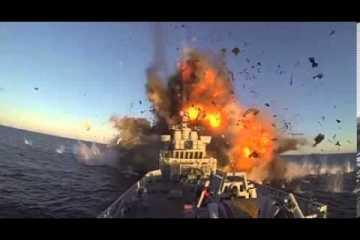 Fragata norueguesa atingida por míssil