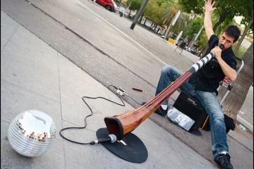 Músico de rua espetacular