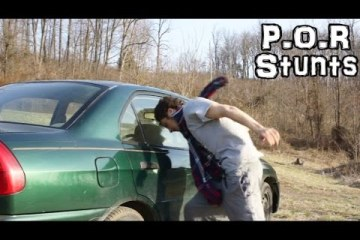 Idiota vs vidro do carro