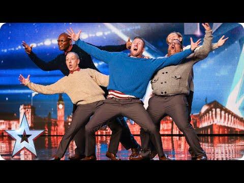 Homens de meia idade foram ao Britain's Got Talent partir a loiça