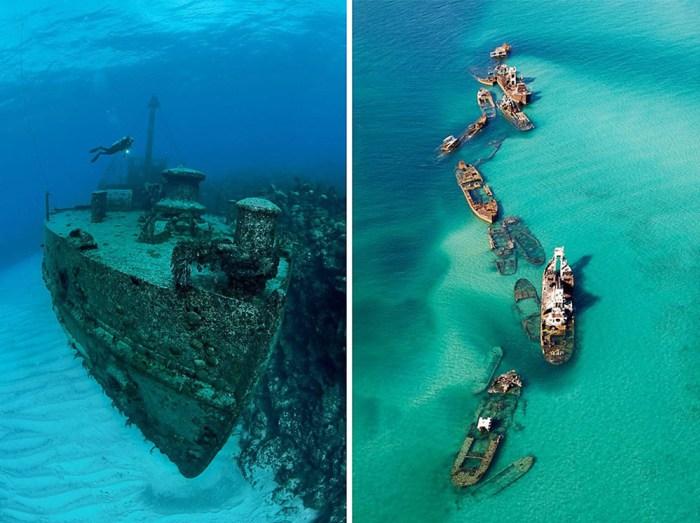 Navios naufragados, uma volta pelos mares de todo mundo, vais adorar