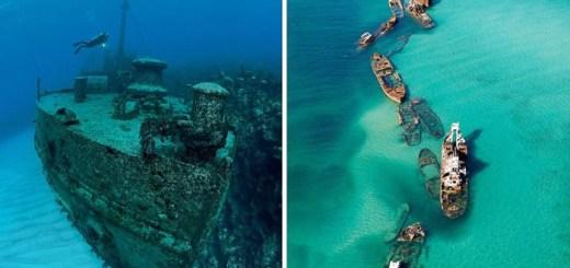 Navios naufragados pelo mundo