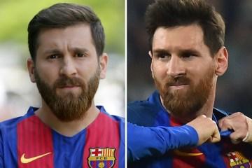 Sósia de Lionel Messi detido